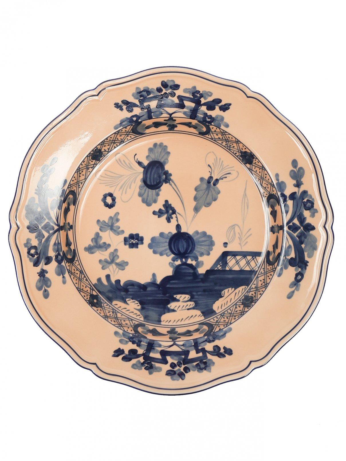 Блюдо круглое из фарфора с узором Richard Ginori 1735  –  Общий вид