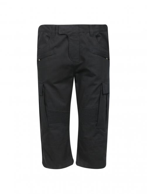Шорты из протного хлопка с накладными карманами - Общий вид
