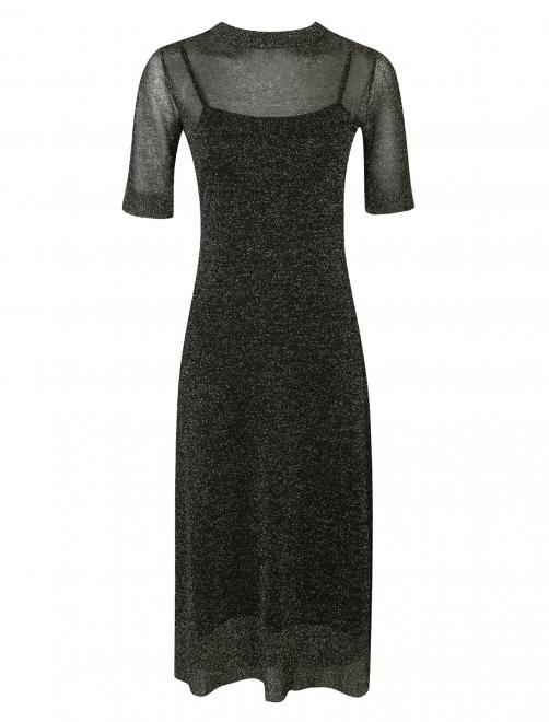 Платье трикотажное с люрексом - Общий вид