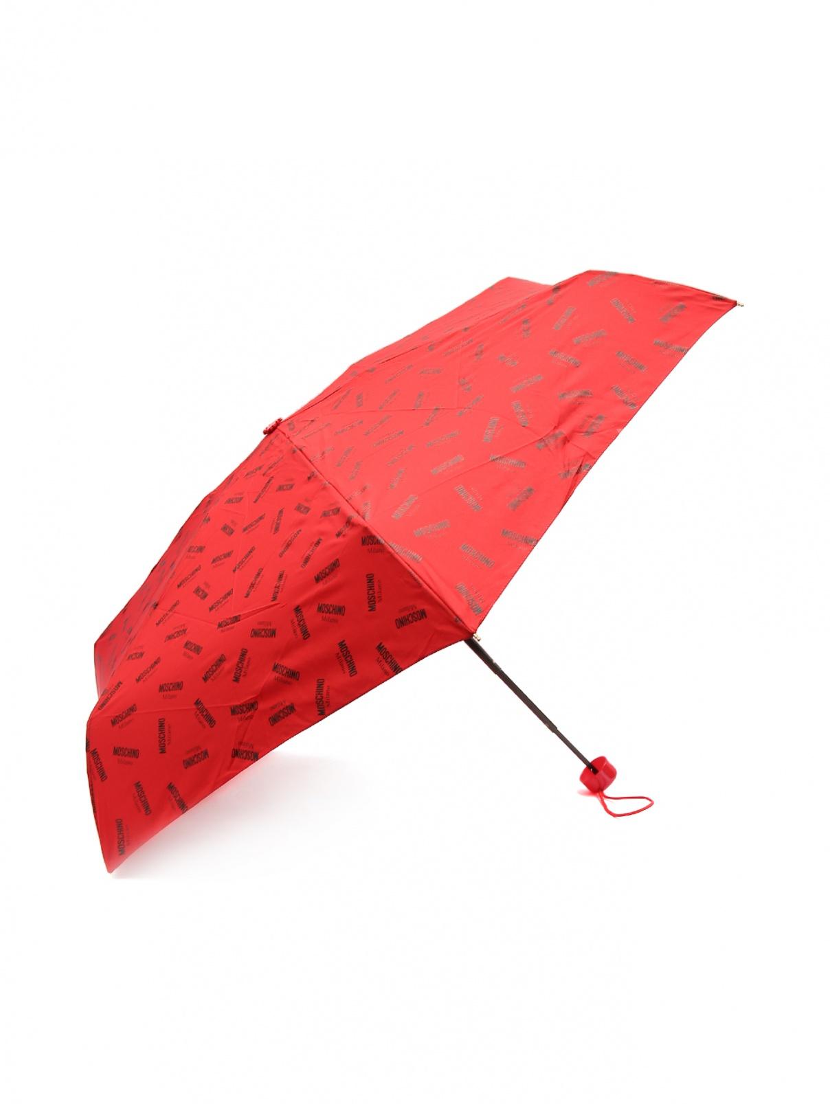 Зонт механический с брелоком Moschino  –  Общий вид