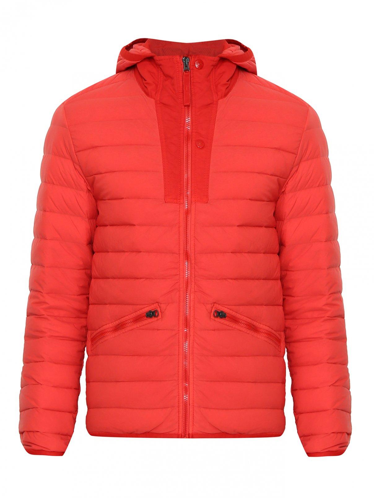 Куртка стеганая с капюшоном Stone Island  –  Общий вид