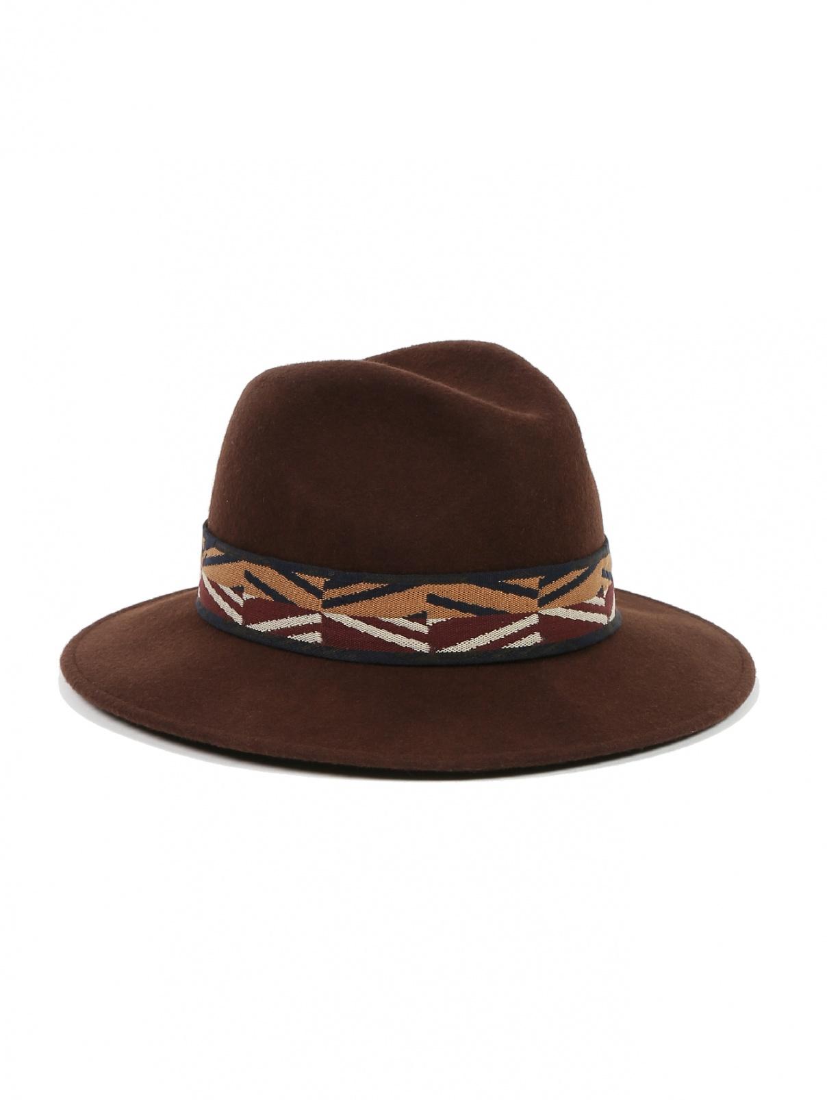 Шляпа из шерсти с узором Weekend Max Mara  –  Общий вид