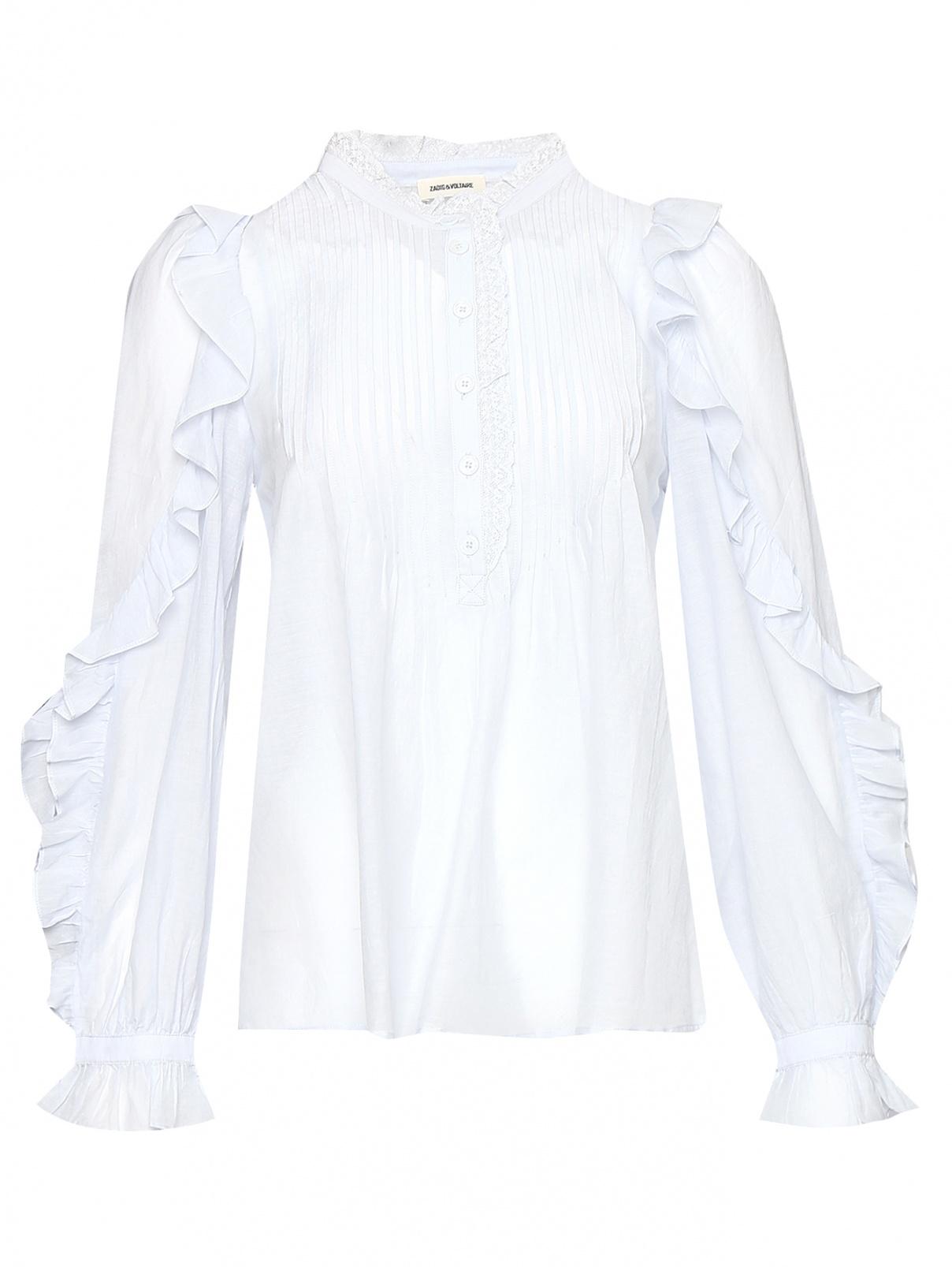 Блуза из хлопка свободного кроя с воланом Zadig&Voltaire  –  Общий вид