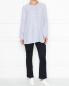 Блуза из вискозы в полоску Persona by Marina Rinaldi  –  МодельОбщийВид