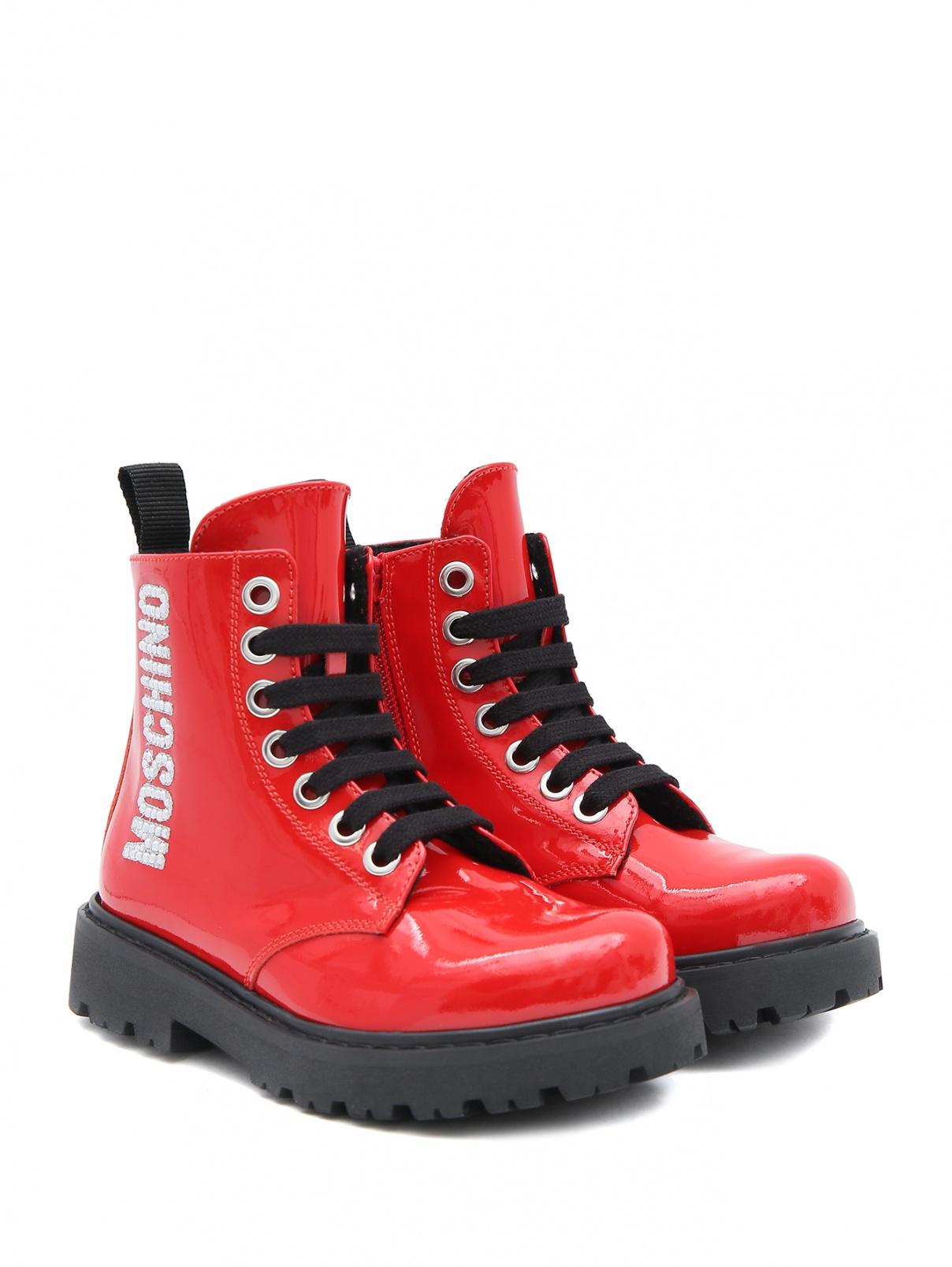 Высокие ботинки со стразами Moschino  –  Общий вид