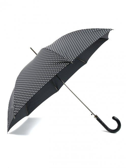 Зонт-трость с узором Pasotti - Общий вид