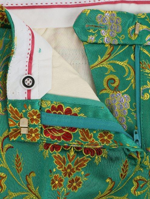 Укороченные брюки с узором - Деталь1