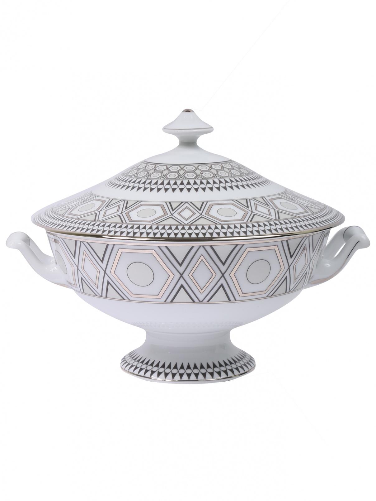Супница из фарфора с геометрическим узором Haviland  –  Общий вид