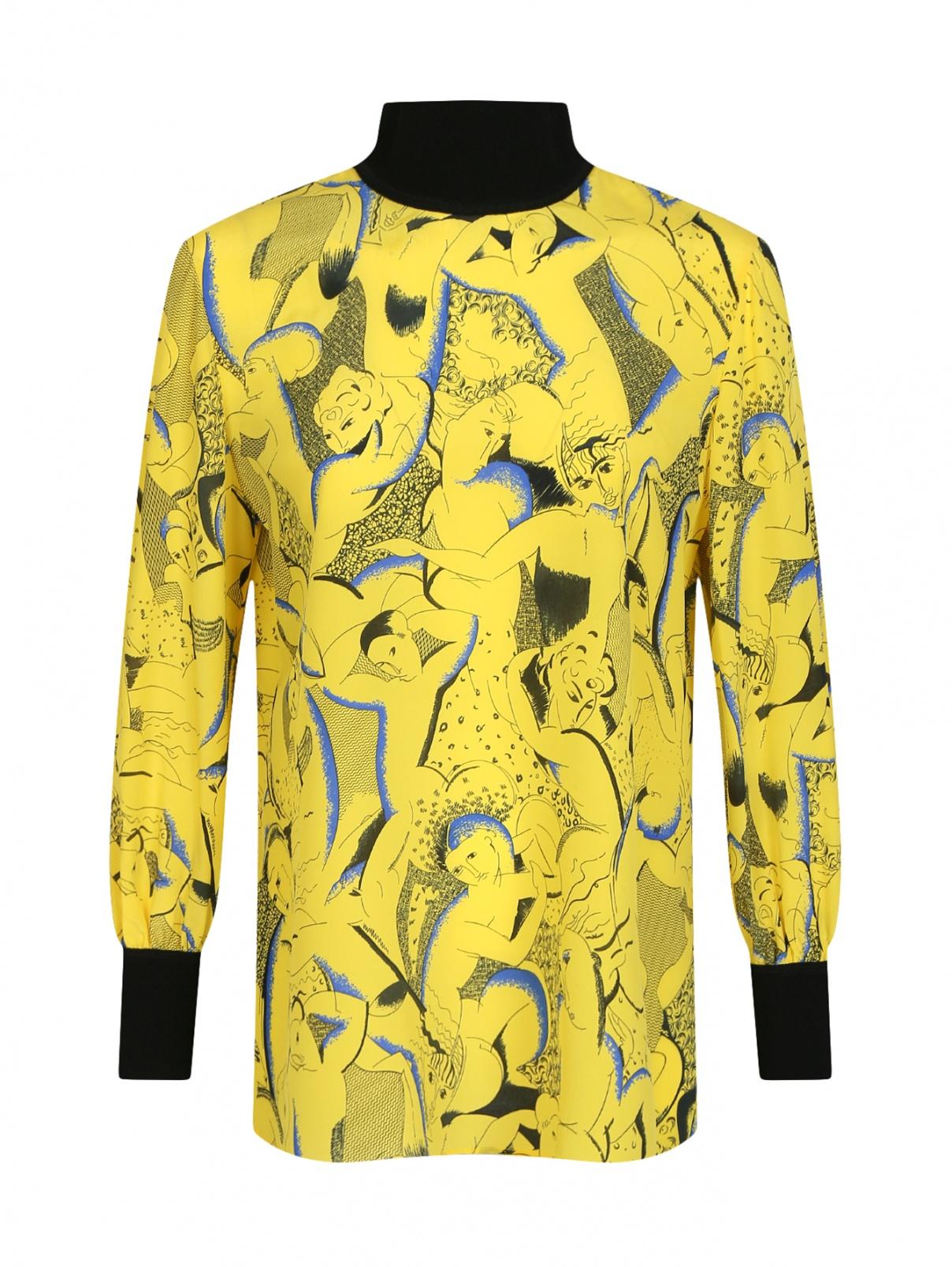 Блуза из шелка с узором Marina Rinaldi  –  Общий вид